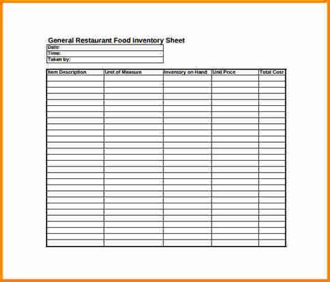 10  inventory sheet pdf   cashier resume