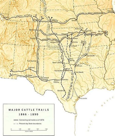 texas cattle trails map cattle drives encyclopedia article citizendium