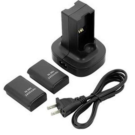xbox 360 rechargeable battery pack and charger us 2 pack rechargeable battery 2400mah charging station