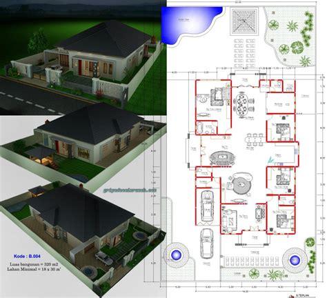 desain rumah type 300 1 lantai 4 kamar tidur jasa desain rumah