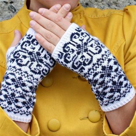 norwegian pattern name norwegian heart fingerless gloves by lisa revheim craftsy