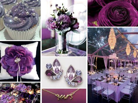 wedding colour themes purple 5 different shades sashion wedding the hairs