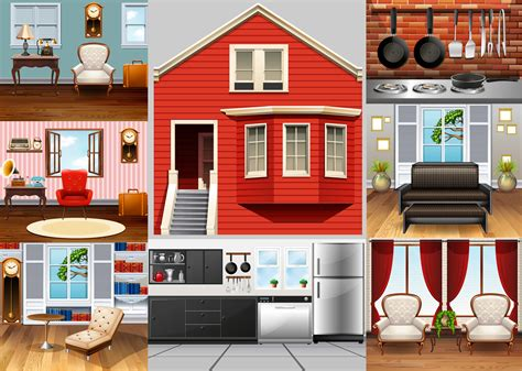 rooms   house   vectors