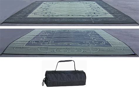 rv trailer patio cing reversible outdoor mat 9x12
