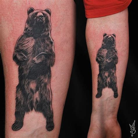 amazing standing bear tattoo venice tattoo art designs