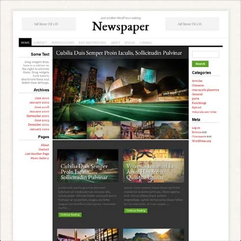 newspaper theme options best exle of magazine style wordpress themes dezzain com