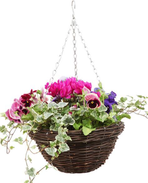 design hanging flower baskets rustic rattan natural hanging basket 30cm 163 4 99