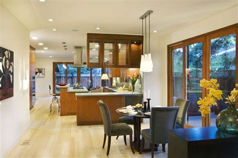 kitchen table lighting dining room modern with clerestory