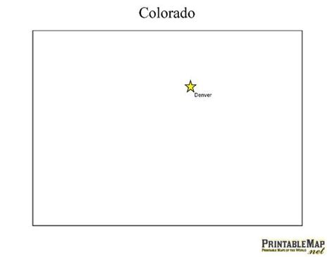 Colorado Map Outline by Printable State Capital Map Of Colorado Includes All The States Craft Ideas