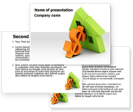 ppt templates for loan mortgage money powerpoint template poweredtemplate com