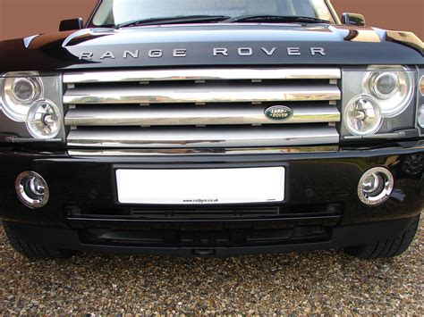land rover chrome chrome fog light bezel for range rover l322 vogue 2002 05