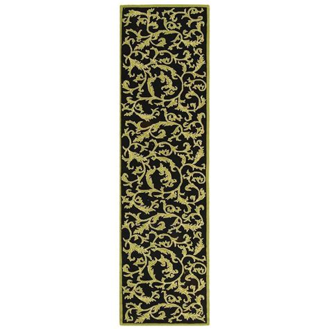 10 runner rugs safavieh chelsea black 2 ft 6 in x 10 ft rug runner hk307b 210 the home depot