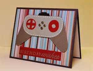 masculine handmade birthday card video game geek birthday