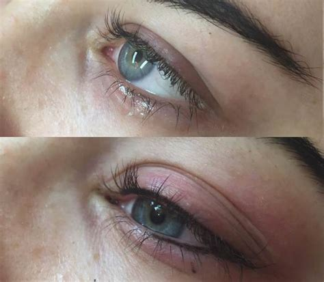 eyeliner tattoo lower lid permanent makeup gallery before after pictures
