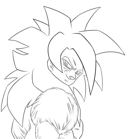 goku super saiyan 4 coloring pages coloring pages