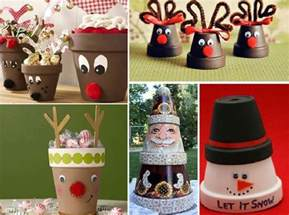 diy christmas decorations made using terracotta pots