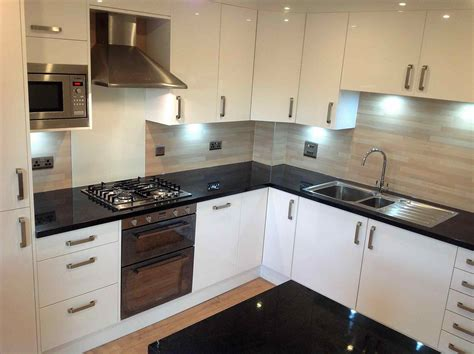 ideas for kitchen worktops white kitchens with black worktops deductour com