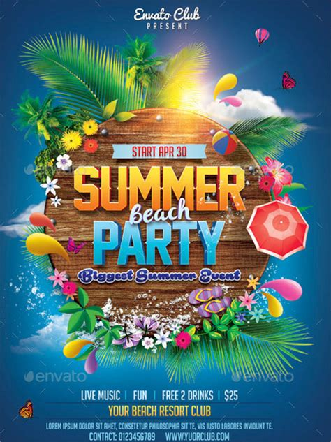 summer parties 10 summer party invitations free editable psd ai