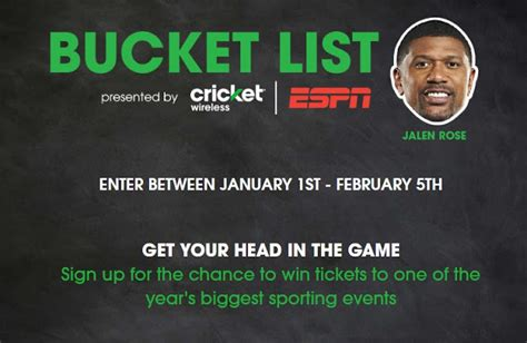Sweepstakes Cricket - cricket espn bucket list 2017 sweepstakes sweepstaking net a one stop shop for
