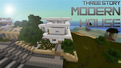 three story three story modern house minecraft project