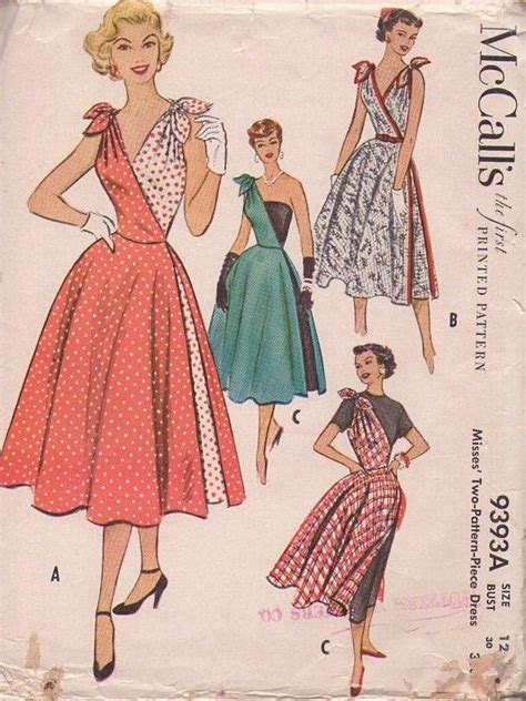 vintage pattern wrap dress mccall s 9393 vintage 50 s sewing pattern the most