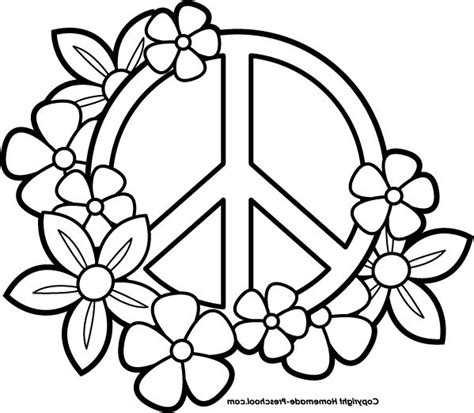 peace sign coloring pages draw sketch coloring page