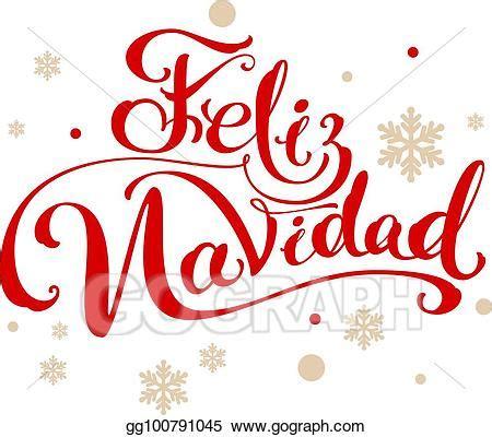 vector stock feliz navidad translation spanish merry christmas clipart illustration