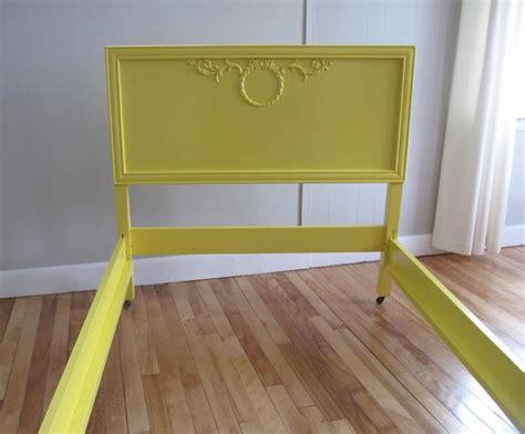blue lamb furnishings yellow vintage twin bed frame sold