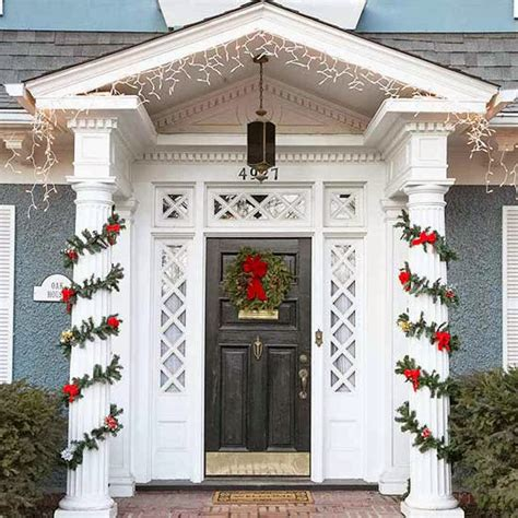 front door area christmas decorating ideas stylish home