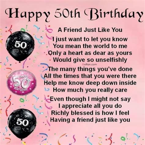 50th Birthday Card Messages For Friend