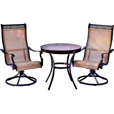 Small Bistro Chair Cushions Hton Bay Corranade 3 Wicker Balcony Height Outdoor Bistro Set With Charleston Cushions