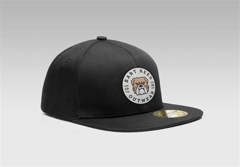 Topi Raphel Baseball Logo Dibordir Black Premium Quality free snapback s cap mockup psd with woven logo mockups