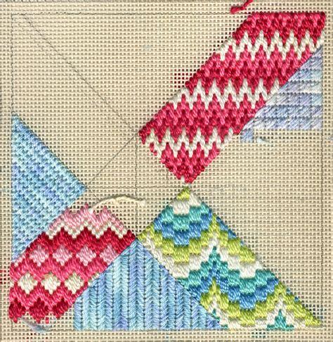 terry dryden needlework designs color texture stitch intro to bargello needlepoint update