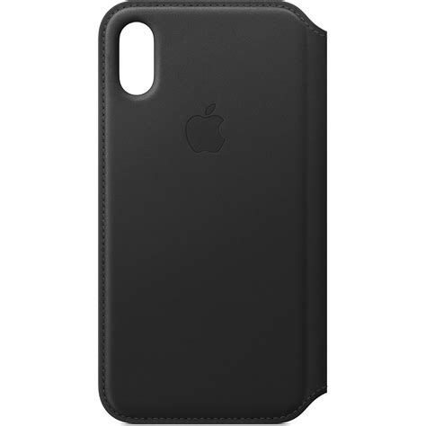 iphone b h apple iphone xs leather folio black mrww2zm a b h photo