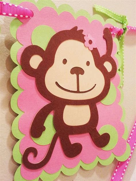 mod monkey coloring pages girls mod monkey quot i am one quot birthday banner mod monkey
