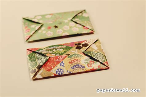 How To Make An Envelope Origami - easy origami envelope tutorial paper kawaii