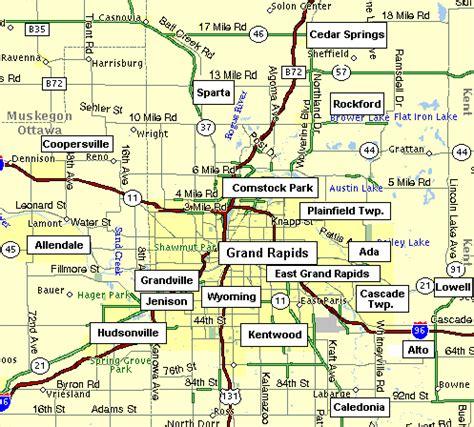 map usa grand rapids grand rapids maps kent ottawa and ionia counties