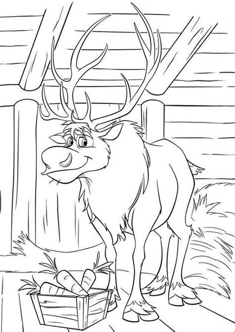 frozen reindeer coloring pages 33 best kolorowanki images on pinterest frozen sunday