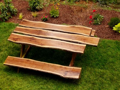 rustic picnic bench download log picnic table plans plans free