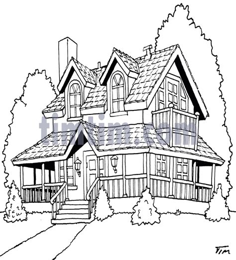 house porch drawing free drawing of american house bw2 from the category home