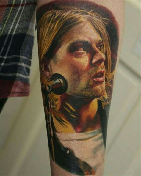 kurt cobain tattoos my a portrait of the beautiful kurt cobain