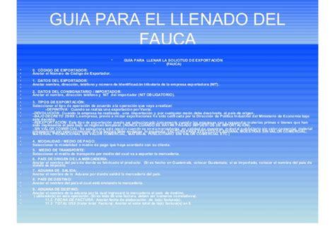 gua para el llenado de la declaracion informativa de como exportar en la region centroamericana1