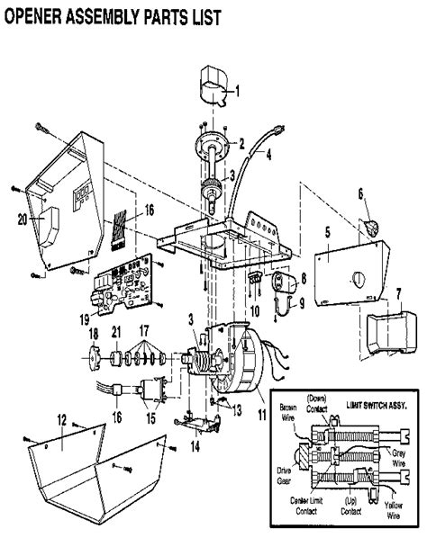 wiring diagram for craftsman 1 2 hp garage door opener