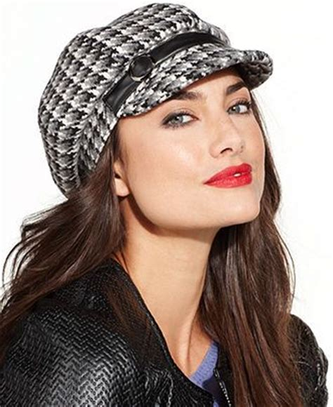 Kokosalaki For Nine Wests Irene Gloves by Nine West Newsgirl Houndstooth Cap Hats Gloves