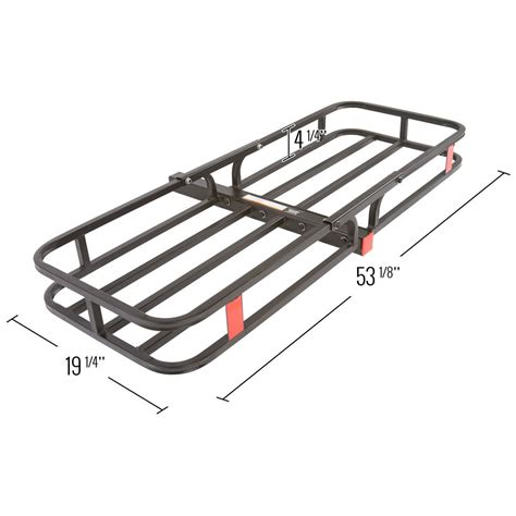 rack for hitch receiver receiver hitch cargo carrier 500 lb capacity cc 1951 discount rs