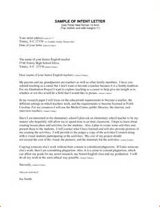 Format Of A Letter Of Intent by Intent Letter Format Lease Template
