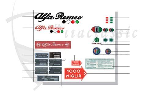 Alfa Aufkleber Shop by Alfa Romeo Giulia Berlina Bertone Spider Zubeh 246 R