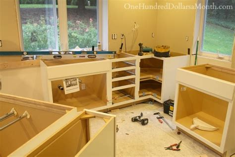 installing new kitchen cabinets one hundred dollars a month