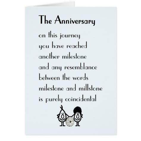 Wedding Anniversary Card Rhymes the anniversary a wedding anniversary poem card