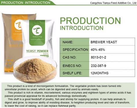protein yeast for poultry fish shrimp cattle feed brewer yeast protein